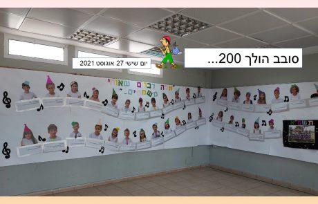 סובב הולך 200…