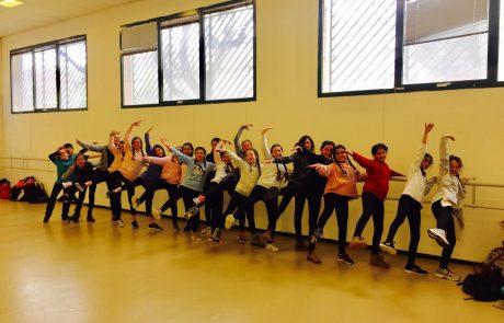 תלמידי התמחות ריקוד ביובלי הנגב בתחרות ריקודים אזורית